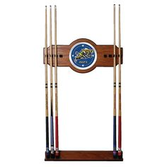 Trademark Commerce LRG6000-USNA United States Naval Academy Wood and Mirror Wall Cue Rack