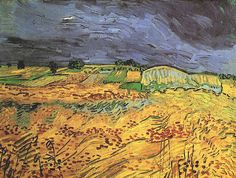 "van Gogh ""The Fields"", oil on canvas, 50.0 x 65.0 cm, July, 1890. Private collection, Zürich, Switzerland."