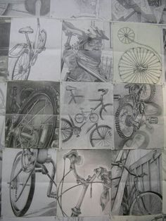 Three drawing samples are required of all candidates. Each drawing must be done using graphite pencil on a sheet of white paper measuring . Portfolio D'art, Bike Drawing, Object Drawing, Classe D'art, High School Art Projects, Observational Drawing, Ap Studio Art, Bicycle Art, Wow Art