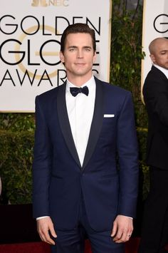 Matt Bomer's classic midnight blue at the 2015  Golden Globes.