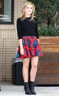 From Fancy Coats to Flouncy Skirts, Check out All of This Week's Best Celebrity Outfits - Kiernan Shipka