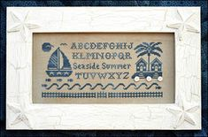 Seaside Summer Alphabet - Cross Stitch Pattern