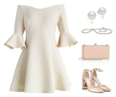 """white"" by teatees ❤ liked on Polyvore featuring Chicwish, AK Anne Klein and Jimmy Choo"