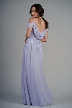 Beautiful poly chiffon floor length bridesmaid dress with a beautiful scoop neckline and spaghetti straps. Detailed gathers on the skirt, bodice, and fabric around the arm for a whimsical bridesmaid look. Whimsical Bridesmaids Dresses, Jasmine Bridesmaids Dresses, Long Bridesmaid Dresses, Bridal Party Dresses, Grad Dresses, Event Dresses, Prom Dress, Chiffon Skirt, Chiffon Fabric