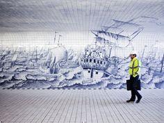Irma Boom interprets 18th century masterpiece within passage beneath Amsterdam Central Station via Frameweb.com