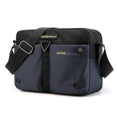 Scione Nylon Shoulder Bags Men Casual Travel Waterproof Single Shoulder Bag men Sling Cross Body Messenger Bags Male iPad - Blue / 20X28X10CM