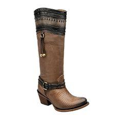 Cuadra Ladies Python Lizard Boot - Higgs Expresso Botas Cuadra 3473b36f368