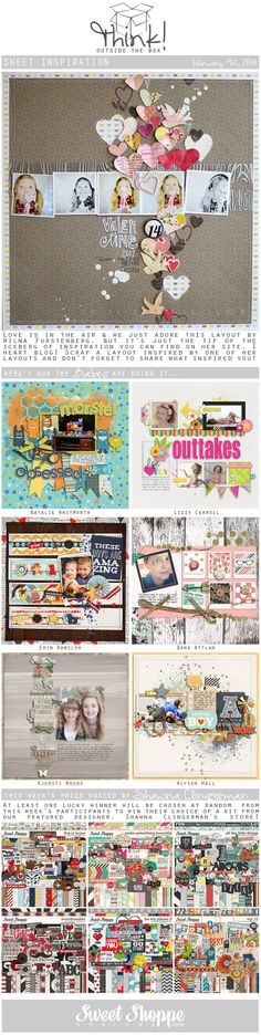 Looking for a fresh new take on a scrap challenge? Check out Sweet Shoppe Designs' Think Outside The Box challenge for March 9th and scrap along for your chance to win a kit from our Featured Designer's store and to start earning discounts every month!
