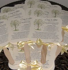 Wedding Fans with Program - set of 50 Tree of Life. $87.50, via Etsy.