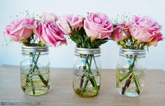Guilded Mason Vases - Think Crafts by CreateForLess