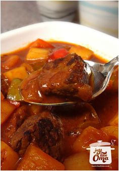 Traditional German Goulash Soup - check this out: http://www.quick-german-recipes.com/goulash-soup.html �it! it! Share it! Make it! Enjoy it!