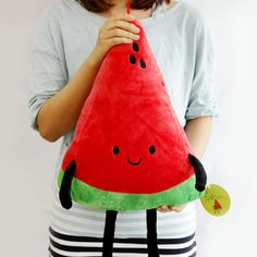 a slice of Watermelon Plush cotton food figure toy doll pillow kawaii cute Food Pillows, Cute Pillows, Diy Pillows, Sacs Tote Bags, Kawaii Gifts, Tsumtsum, Cute Stuffed Animals, Cute Plush, Kawaii Cute