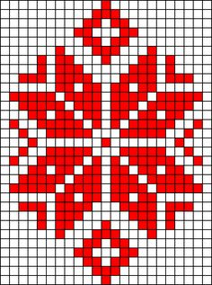 Winter flower perler bead pattern