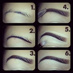 Thin to thick eye brows