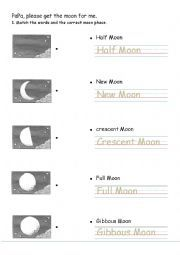 English worksheet: Papa please get the moon for me.