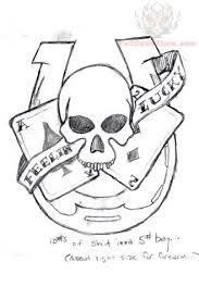 horseshoe with skull tattoo - Google Search
