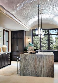 More Kevin Reilly Lighting in a kitchen setting!