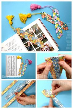 Paper Weaving Printable Bookmark - How to weave with paper. Paper weaving bookmark #bookmark #printable #paperweaving