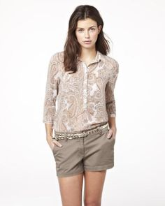 Summer 2013 Collection sleeve paisley print chiffon blouse from RW & CO Casual Outfits, Fashion Outfits, Womens Fashion, Paisley Print, Casual Chic, Passion For Fashion, What To Wear, Print Chiffon, My Style