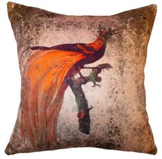 Cushion - Faded Birds - in Pink