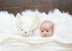 Funny Christmas Card idea: A cute baby with bug eyes that nearly match is his favorite stuffed animal will always give us a good (heartwarming) laugh.