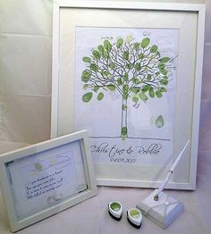 Thumbprint Range (Thumbprint Tree - Deluxe) @ The Goodie Gallery Thumbprint Tree, Range, Wedding Ideas, Lettering, Gallery, Products, Calligraphy, Stove, Roof Rack