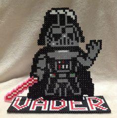 Star Wars Darth Vader on stand Perler Bead Art by EightBitEvolution