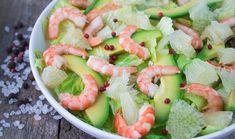 Σαλάτα με γαρίδες, γκρέιπφρουτ και αβοκάντο