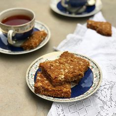 Crisp, buttery, sweet crunchies with just the right amount of chew. South African Recipes, Golden Syrup, Rolled Oats, Cake Flour, Tray Bakes, Brown Sugar, Crisp, Oatmeal, Oven