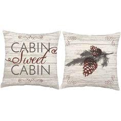Cabin Sweet Cabin Throw Pillows