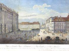 Ansichten, Berlin, Rosenberg, 18. Jh., drei Stück Vue de la Place d`armes dùne partie du Chateau — Dekorative Graphik