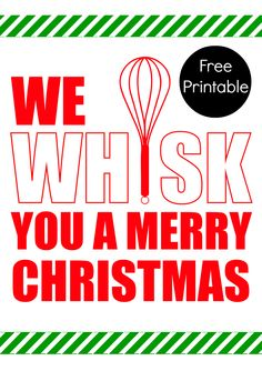 Merry Whiskmas Printable - Happiness is Homemade
