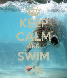 KEEP CALM AND SWIM ON