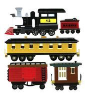 Jolee's Boutique Dimensional Embellishments-Trains