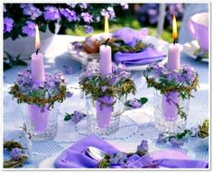 Velas lilas