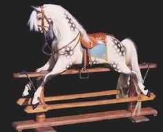 Large Ayers fully restored rocking horse