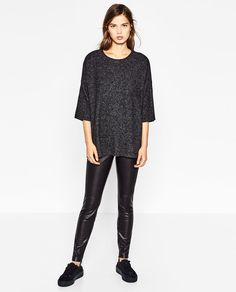 Image 1 of SOFT TOUCH SWEATSHIRT from Zara
