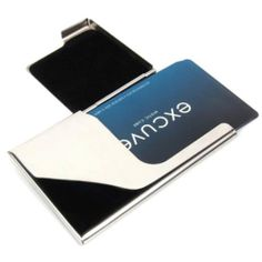 excuve TGX1S PERSONALIZED SEMI-OPEN TYPE BUSINESS CARD HOLDER-Free Engraving