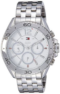 Men's Wrist Watches - Tommy Hilfiger Mens 1791032 Stainless Steel Watch ** You can find out more details at the link of the image. Tommy Hilfiger Watches, Hand Watch, Rolex Watches, Wrist Watches, Stainless Steel Watch, Chronograph, Bracelet Watch, Accessories, Image Link