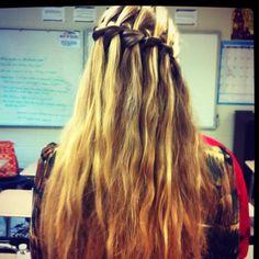 Waterfall braid.  the back of my head. ya man. creds to bai!