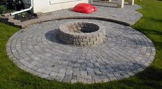 back yard fire pit designs | stone fire ring, including how to lay Build this backyard fire pit ...