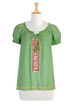Folk art peasant blouse