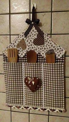 Para la cocina combinando telas en marrones