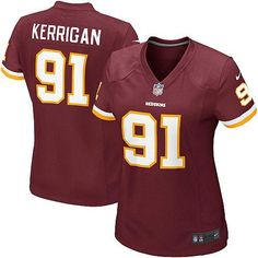 The officially licensed Nike NFL Elite Women's Washington Redskins #91 Ryan Kerrigan Team Color Jersey provides ultimate breathability so you can enjoy the superior comfort while rooting for your favorite player. This Nike NFL Elite Women's Washington Redskins #91 Ryan Kerrigan Team Color Jersey is constructed with water-repelling fabric to keep you dry and with a tailored fit to keep you comfortable.$109.99