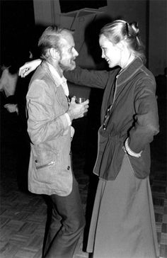 PRESERVED FOR THE AGES--JESSICA LANGE WITH BOB FOSSE AT STUDIO 54 WEARING A JACKET I DESIGNED FOR BEENE BAG, MR. BEENE'S SPORTSWEAR LINE! (NOT REALLY A DANCING LOOK, HOWEVER!)
