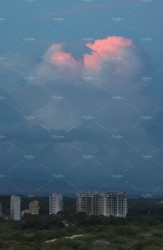 Clouds and the city. Evening by Wonderful World on @creativemarket
