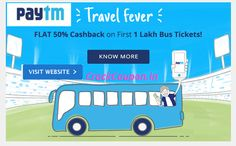 Flat 50% #Cashback on First 1 Lakh #Bus #Ticket Bookings  Click to save now! http://goo.gl/Xs5Tu3