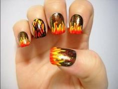Nail Tutorial - Bonfire Nails - Request