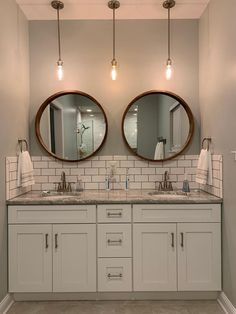 Modern Farmhouse, Rustic Modern, Classic, light and airy master bathroom design some ideas. Bathroom makeover ideas and bathroom remodel some ideas. Bathroom Inspo, Bathroom Inspiration, Bathroom Ideas, Bathroom Organization, Bathroom Storage, Bathroom Designs, Bathroom Styling, Bath Ideas, Backsplash Ideas Bathroom