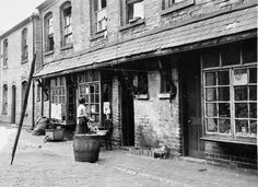 A woman and a child outside their back-to-back in Birmingham in the 1920s. Notice the chicken on the right and the maiding tub for washing in the foreground. So many women like this one fought a daily battle for cleanliness and respectability, despite their bad housing and unhealthy environment.